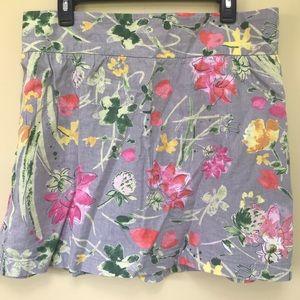 3/$20 Floral Linen Skirt